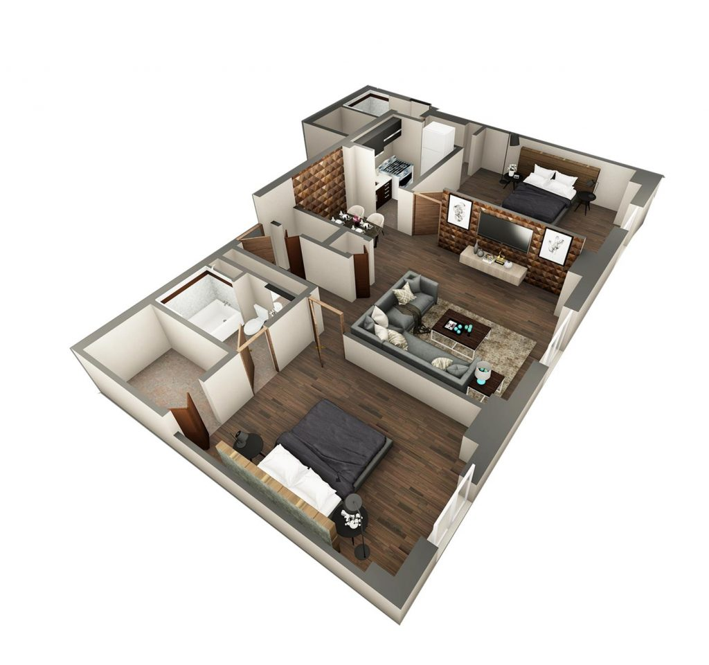 Ritz Condominium Two Bedroom Floor Plan