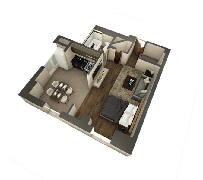 Ritz Condominium Studio Deluxe Floor Plan