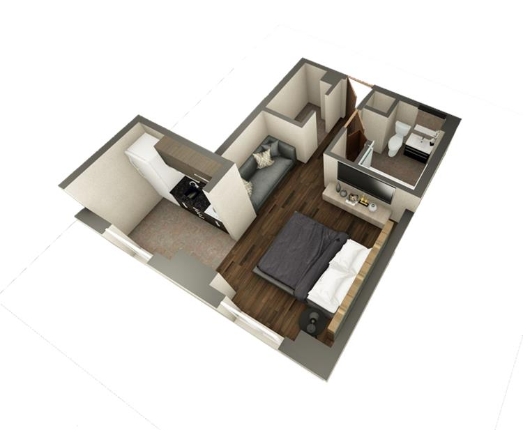 Ritz Condominium Studio Floor Plan
